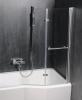 Polysan ODESSA pneumatická vanová zástěna 970 mm, stříbrný rám, čiré sklo 37127