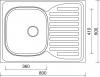 Nerezový dřez Sinks CLP-D 800 M 0,5mm levý matný STSCPM8006005ML