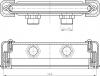 Sapho CUT napouštěcí štěrbina 170x24mm, chrom PC10031