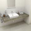 Sapho TAILOR rockstone deska 160x50 cm, provedení límce L TR160L