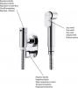 Sapho Ventil pro bidetové spršky, s hadicí 120cm, chrom JS121