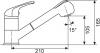 Granitový dřez Sinks SOLO 560 Truffle+CAPRI 4S GR ACRS560CA4S54