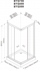 Aqualine ALAIN čtvercová sprchová zástěna 900x900 mm, sklo BRICK BTQ900