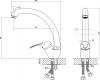 Aqualine KASIOPEA 35 stojánková dřezová baterie, vysoké ramínko, chrom 1107-65