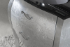 Gallo Wood GELSO ARG 87-S skříňka s umyvadlem, š.87cm, mramor Nero Marquinia, argento GA-87S
