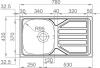 Nerezový dřez Sinks OKIO 780 V 0,5mm leštěný RDOKL7804355V