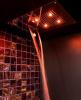 Sapho CHROMOTERAPIE hlavová sprcha 550x400mm, déšť, kaskáda, ovladač C, nerez CH5540C
