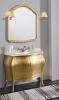 Gallo Wood ISOTTA ORO 105-S skříňka s umyvadlem, š. 107cm, mramor Bianco Carrara, oro IO-105