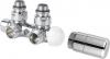 Sapho TWIN připojovací sada ventilů termostatická pro střed.připojení levé, brouš.ner CP3525