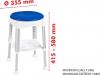 Ridder Stolička otočná, nastavitelná výška, bílá/modrá A0050401
