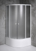 Aqualine ARLEN čtvrtkruhová sprchová zástěna 900x900x1500 mm, sklo BRICK BTR903