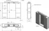 Aqualine ZOJA/KERAMIA FRESH galerka s LED osvětlením, 70x60x14cm, dub platin 45029