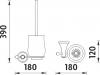 Nimco Lada Toaletní WC kartáč LA 19094K-80