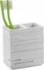 Gedy QUADROTTO držák kartáčků na postavení, bílá QU9802