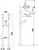Reitano Rubinetteria ANTEA připojení pro instalaci vanové baterie do podlahy (pár), chrom 9841