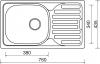 Nerezový dřez Sinks CLASSIC 760 V 0,6mm matný STSCLM7604356V