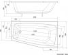 Aqualine BEROUNKA asymetrická vana 160x90x42cm, levá, bílá A1690