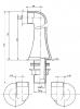 Reitano Rubinetteria ANTEA připojení pro instalaci vanové baterie na okraj vany (pár), bronz 9856