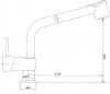 Sapho RHAPSODY stojánková dřezová baterie s výsuvnou sprškou, chrom 5550