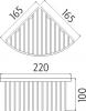 Nimco Drátěný program Drátěná rohová polička AX 506-26