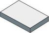 Sapho TAILOR rockstone deska 100x50 cm, provedení límce R TR100R