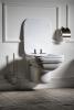 Kerasan WALDORF WC sedátko Soft Close, polyester, bílá/chrom 418801