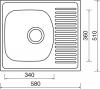 Nerezový dřez Sinks SHORT 580 M 0,5mm matný STSSHM5805105M