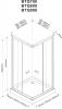 Aqualine ALAIN čtvercová sprchová zástěna 800x800 mm, sklo BRICK BTQ800