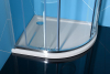 Polysan RENA R sprchová vanička z litého mramoru, čtvrtkruh 90x80x4cm, R550, pravá, bílá 72891