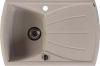 Sapho Dřez granitový vestavný s odkapávací plochou, 77x51 cm, béžová GR1102