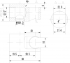 Sapho Držák sprchy kulatý středový, pevný, s vyústěním, chrom 1205-09