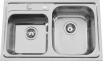 Nerezový dřez Sinks ALFA 800 DUO V 0,7mm MP68130