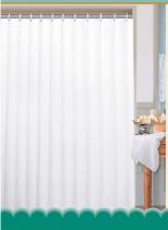 Aqualine Závěs 180x200cm, 100% polyester, jednobarevný bílý 0201104 B