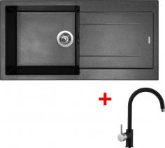 Granitový dřez Sinks AMANDA 990 Metalblack+VITALIA GR AM99074VIGR74