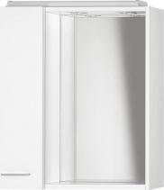 Aqualine ZOJA/KERAMIA FRESH galerka s LED osvětlením, 60x60x14cm, bílá, levá 45021