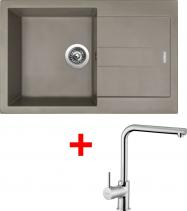 Granitový dřez Sinks AMANDA 860 Truffle+ELKA AM86054ELCL