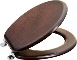 Aqualine AQUALINE WC sedátko, MDF, ořech 1705-11