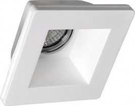 Sapho GIP podhledové sádrové svítidlo 120x120 mm, GU10, max 35W LDD475
