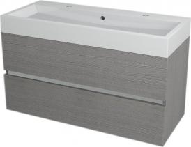 Sapho LARGO umyvadlová skříňka 99x50x41cm, dub stříbrný LA100