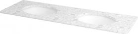 Sapho WESTERN deska technický mramor 147, 5x2x51cm vč. 2 keramických um. TP211., 1219 Calacatta WR141-1219