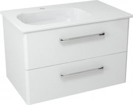 Sapho PURA umyvadlová skříňka 77x50, 5x48, 5cm, levá, bílá PR084