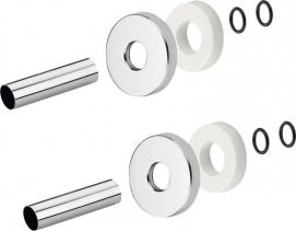 Sapho Set krycích rozet, broušená nerez CP6535