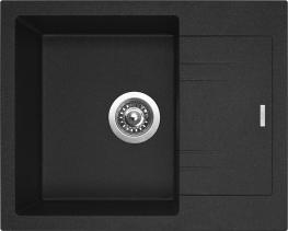 Granitový dřez Sinks LINEA 600 N Granblack SIGLI600480N30