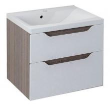 Sapho WAVE umyvadlová skříňka 60x65x47, 8cm, bílá/mali wenge (WA063) WA060-3021