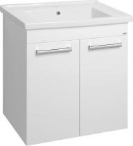 Aqualine POLY umyvadlová skříňka 66x74, 6x46, 5cm, 2xdvířka, bílá PL072