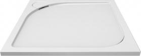 Mereo Čtvercová sprchová vanička s oblým krytem sif., 90x90x3 cm, vč. sif., bez nožiček, litý mramor CV35CS