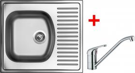 Nerezový dřez Sinks SHORT 580 V+VENTO 4 SH580VVE4CL