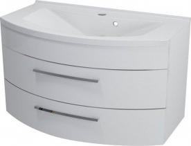 Sapho JULIE umyvadlová skříňka 90x50x50cm, 2 zásuvky, bílá 59905