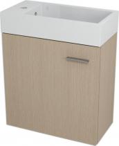 Sapho LATUS IV umyvadlová skříňka 49, 5x50x25cm, Dub benátský 55597
