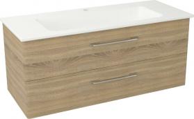 Sapho PURA umyvadlová skříňka, 2x zásuvka 117x50, 5x48, 5cm, dub starmood PR127